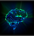 Shining brain vector