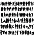 People black silhouette man and woman vector