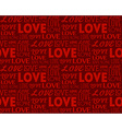 Repeating word love in different fonts seamless vector
