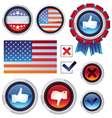 Set with voting and election design elements vector