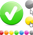 Check glossy button vector