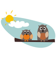 Funny owls vector