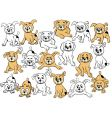 Puppy cartoons vector