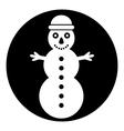 Snowman symbol button vector