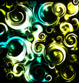 Shiny cosmic curls background vector