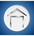 Concept metallic house symbol logo vector
