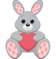 Cute plush bunny vector