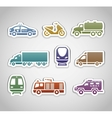 Flat retro color stickers - set two vector