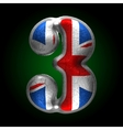 Great britain metal figure 3 vector