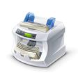 Money counting machine vector
