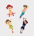 Cute cartoon boys and girls clip art vector