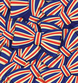 Pattern of britain flag bow-tie vector