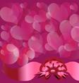 Circles and hearts vector