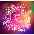 Happy mothers day floral wreath blurred background vector
