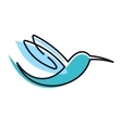 Flying stylized humming bird vector