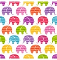 Seamless pattern with funny elephants vector