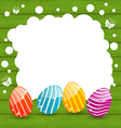 Holiday card with easter colorful eggs vector