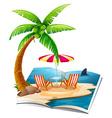 Beach book vector