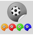 Football ball sign icon soccer sport symbol set vector