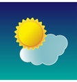 Weather icon sun with cloud vector