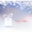 Abstract christmas greeting card with gift box vector