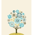 Cute ornate tree vector