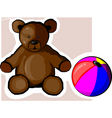 Ball and doll vector