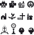 Christian religious icons vector