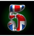Great britain metal figure 5 vector