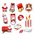 Set of various christmas elements vector