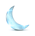 Silver ornamental moon vector