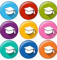 Graduation cap icons vector