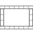 Film strip template border movie theater frame vector