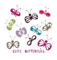 Cute butterflies vector