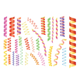 Paper streamers vector