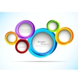 Bright background with circles vector