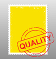 Postage stamp quality vector