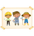 Workers and farmer vector