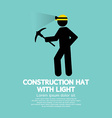 Construction hat with light symbol vector
