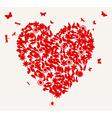 Butterflies and flower heart vector