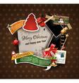 Christmas vintage scrapbook composition vector