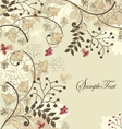Floral wedding card vector
