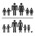 Man woman boy and girl icons vector