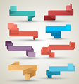 Ribbons collection origami modern style vector
