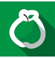 Green apple and long shadow vector