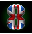 Great britain metal figure 8 vector