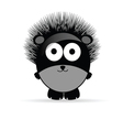 Sweet and funny hedgehog animal vector