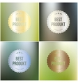 Set of best product labels isolated on blurred vector