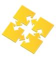 Puzzle pieces with arrows vector