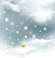 Background with flying snow flakes vector